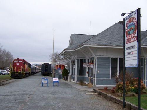 Blue Ridge - mit dem Zug wollten wir fahren, allerdings fährt der nur Freitags und Samstags