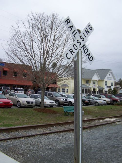 Blue Ridge - ein Bahnübergang