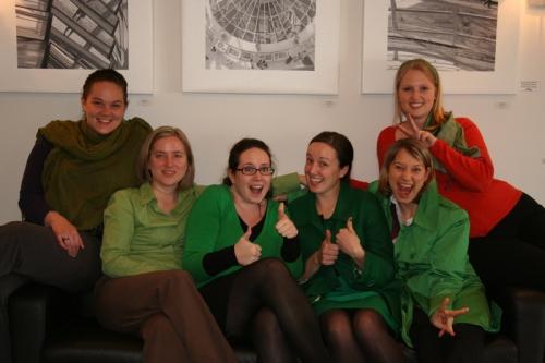 Meine Kollegen und ich am Saint Patricks Day
