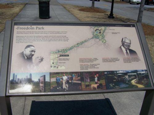 Der Freedom Park verbindet Martin Luther King jr. und Präsident Jimmy Carter
