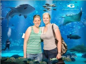 Steffi und ich im Aquarium