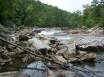 Ein breites Flußbrett