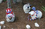 Eine amerikanische Schaffamilie in der Nachbarschaft