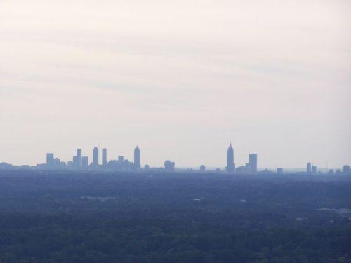 Die Skyline von Downtown und Midtown Atlanta