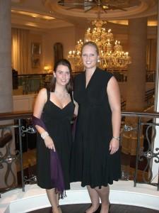 Fritzi und ich bei der Gala