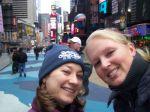 Pamela und ich am Times Square