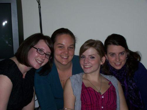 v.l.n.r.: Hannah, Pamela, Morgan, Fritzi