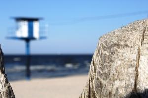 "Der Wachturm an ""meinem"" Strand"